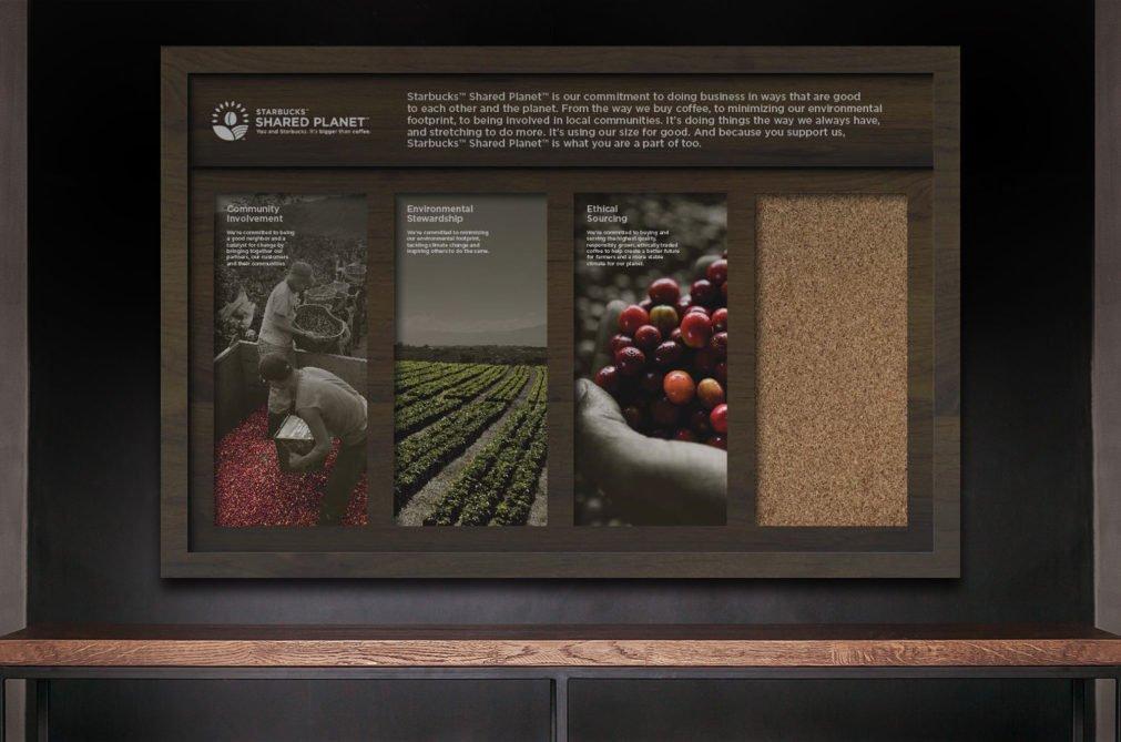 Starbucks Shared Planet Pegboard