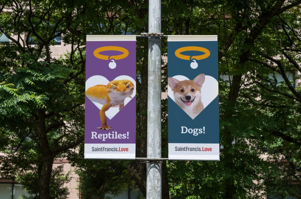 Saint Francis Veterinary Center Pole Banners