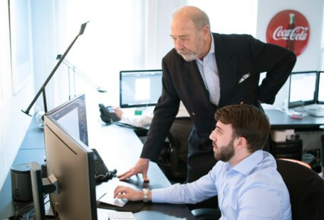 Nick Seay and Justin Bull at Beveridge Seay's Fredericksburg, VA office.